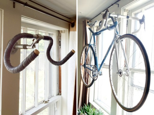 How To Turn A Bike Handle Bar Into A Bike Rack How To