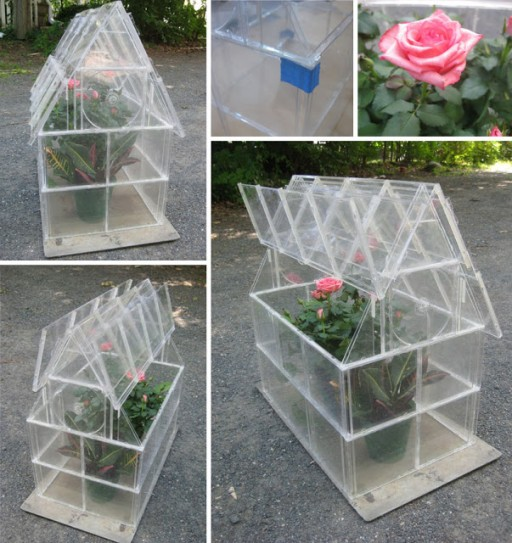 How to re-purpose old CD cases into a garden greenhouse step by step DIY tutorial instructions