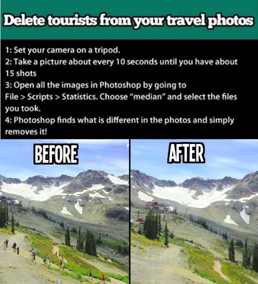 How to remove annoying tourists from your travel photos with photoshop step by step DIY tutorial instructions