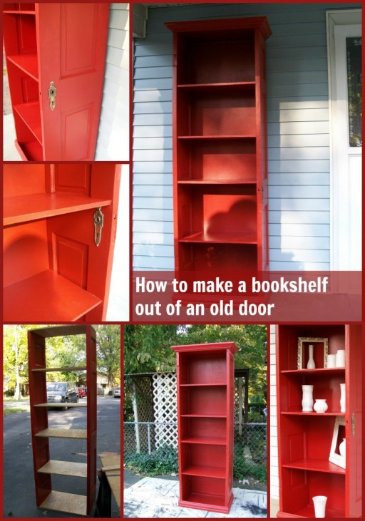 Do It Yourself Home Design: How To Turn An Old Door Into A DIY Bookshelf