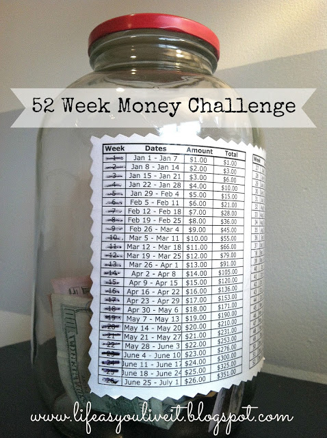 How to save money on your own savings account with this 52 Week Money Challenge piggy bank step by step DIY tutorial instructions