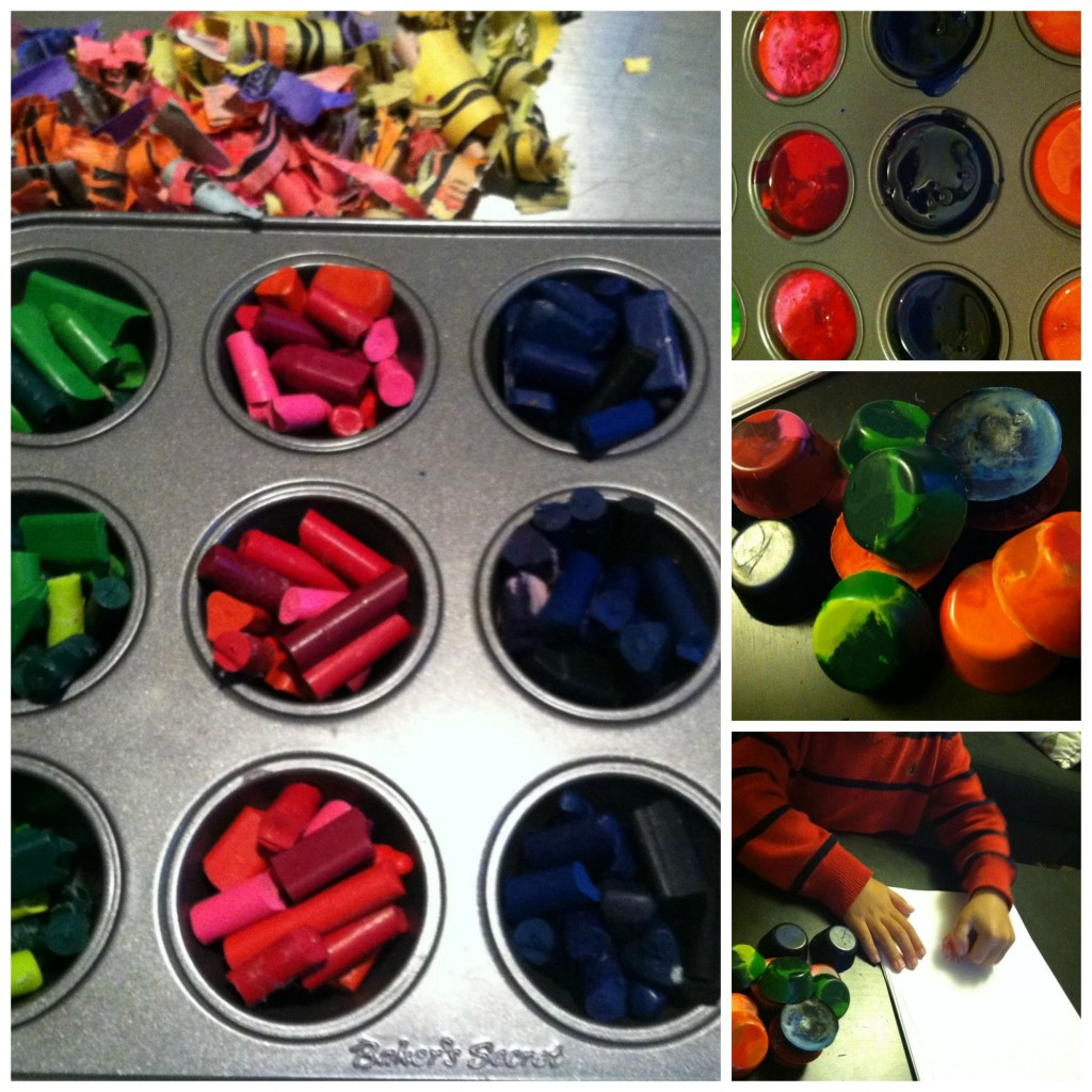 How to turn broken crayons into new ones step by step DIY tutorial instructions