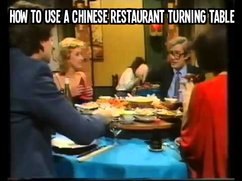 How to use a Chinese restaurant turning table