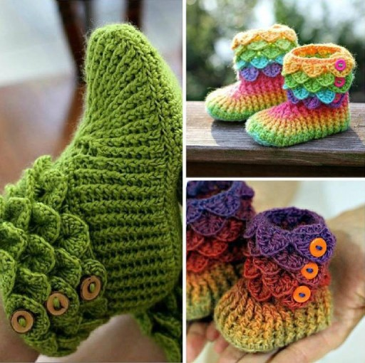crocodile-little-girl-crochet-booties