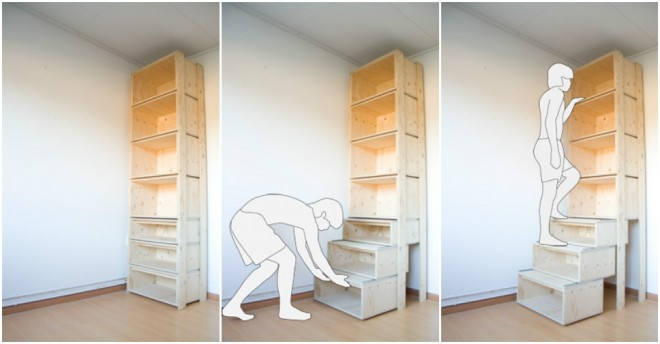 Etonnant More DIY Ideas U003cu003c. Efficient Storage Staircase