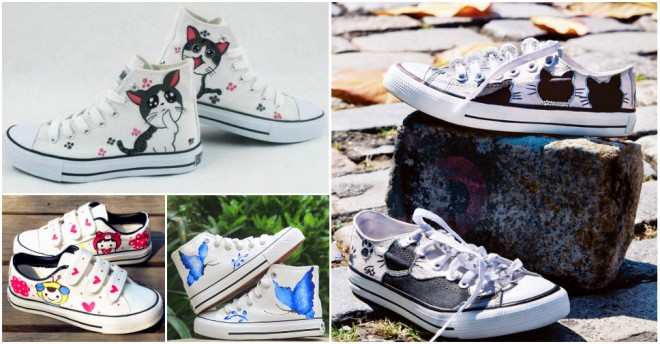 Cat & Paw Shoe Makeover