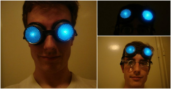 Cool DIY LED Light Goggle