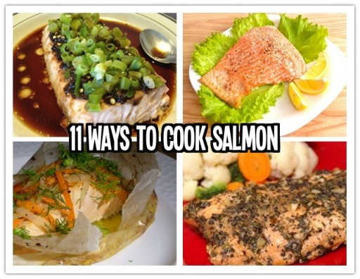 Culinary school - 11 ways to cook salmon fish step by step DIY tutorial instructions and recipes