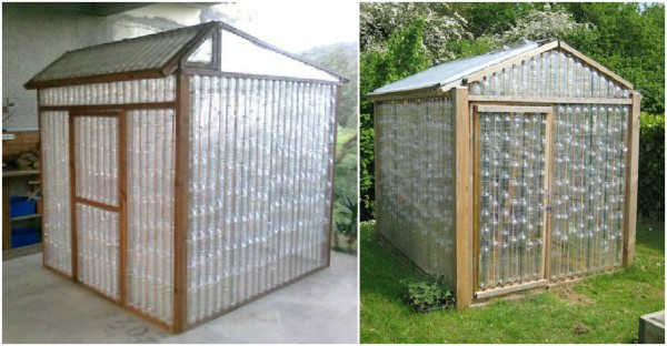 Spazio talee e semine in vericale grazie al riciclo forum di - Building a house with plastic bottles ...