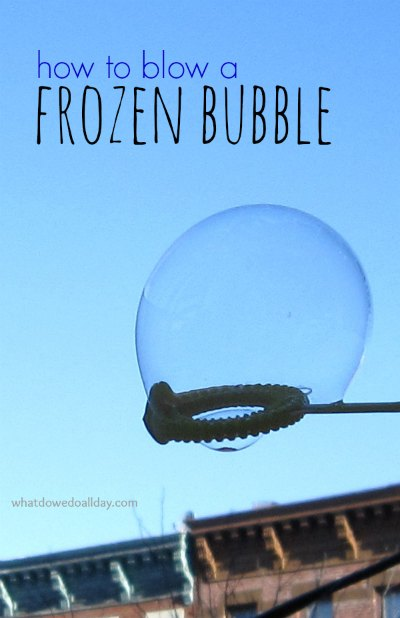 How to blow frozen bubbles step by step DIY tutorial instructions