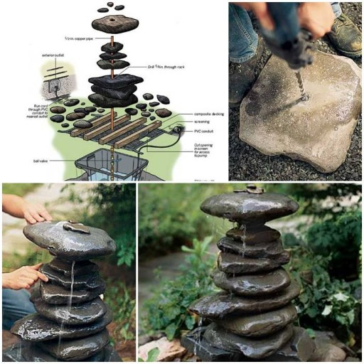 How to build a diy garden fountain step by step tutorial Home made water feature