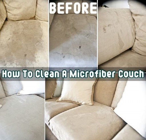 How to clean a microfiber couch step by step DIY tutorial instructions