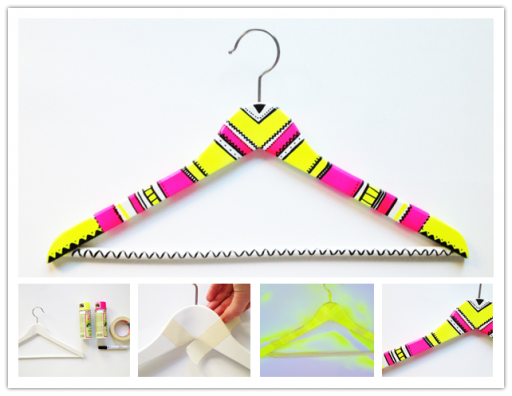 How to decorate colorful cloth hanger step by step DIY tutorial instructions