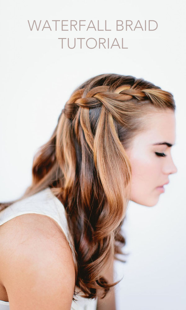 to do waterfall braid wedding hairstyle for long hairs step by step ...