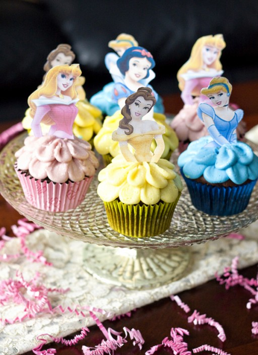 How to make DIY Disney princess cupcakes step by step tutorial instructions 512x704 How to make DIY Disney princess cupcakes step by step tutorial instructions