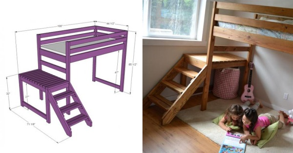 build a loft bed with stairs