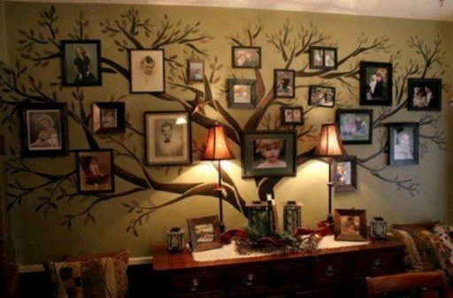 How to make DIY family tree wall decal step by step tutorial instructions 2