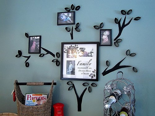 Family Tree Photo Wall how to make diy family tree wall decal | how to instructions