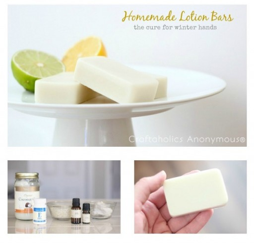 How to make DIY homemade lotion bars that helps dry hands step by step tutorial instructions