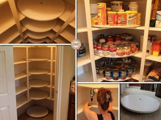 How to make DIY pantry organizer with turntable disks step by step tutorial instructions