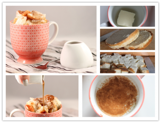 How to make French toast in a cup in two minutes step by step DIY tutorial instructions