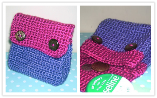 How to make a DIY crochet purse step by step tutorial instructions