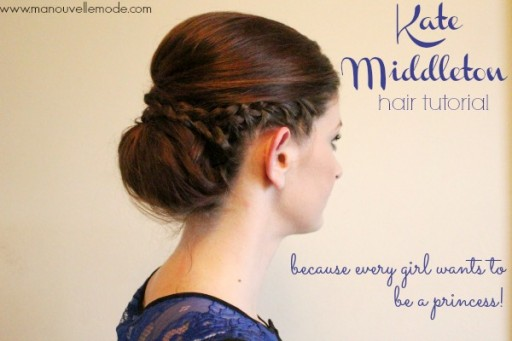 How to make beautiful DIY Kate Middleton princess hairstyle step by step tutorial instructions thumb