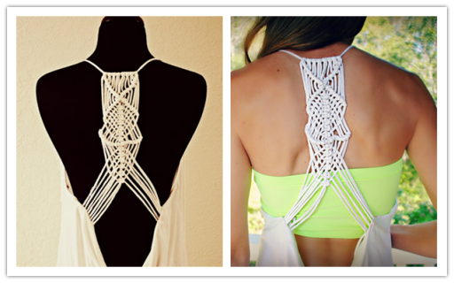 How to make beautiful DIY macrame racerback from tshirts step by step tutorial instructions