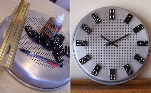 How to make cool DIY domino clock step by step tutorial instructions