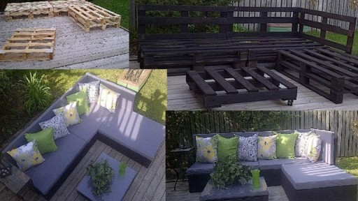 How to make cool DIY pallet furniture step by step tutorial instructions