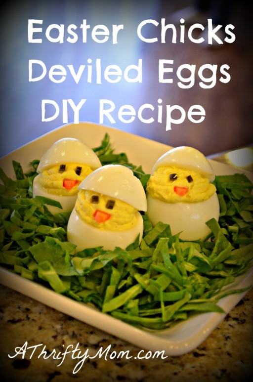 How to make cute simple DIY Easter chicks deviled eggs step by step tutorial instructions