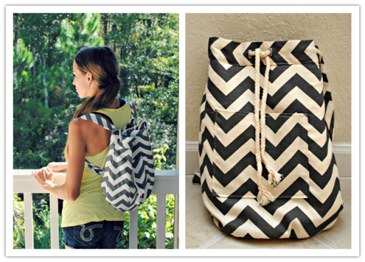 How to make functional and stylish DIY fabric backpack step by step tutorial instructions
