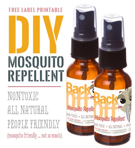 How to make non-toxic, all natural, people friendly DIY mosquito repellent step by step tutorial instructions and recipe