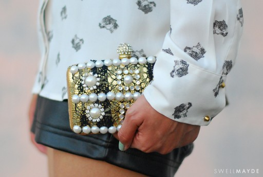How to make pretty DIY baroque embellished clutch step by step tutorial instructions thumb