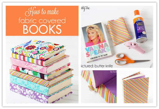 How to make pretty DIY fabric book covers step by step tutorial instructions