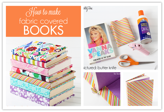 Fabric Book Cover To Make ~ How to make pretty diy fabric book covers step by