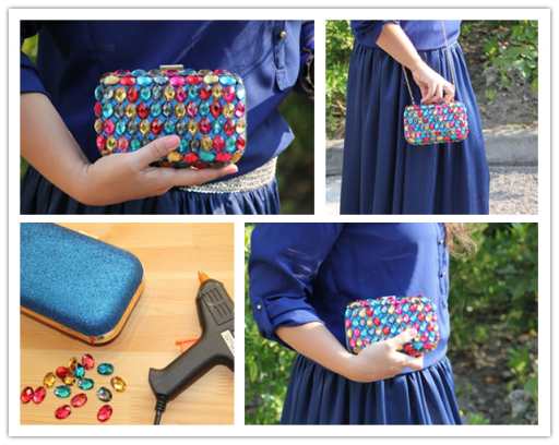 How to make pretty DIY jewelry clutch bag step by step tutorial instructions