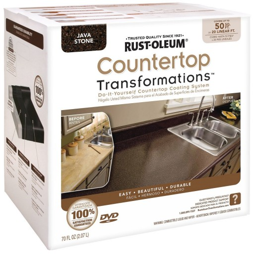 How to transform kitchen cabinets and countertop with Rust-Oleum Countertop Transformations Kit step by step DIY tutorial instructions 2