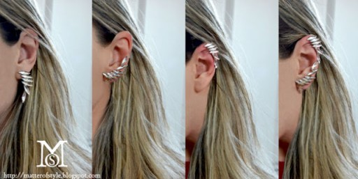 How to turn earrings into ear cuffs step by step DIY tutorial instructions