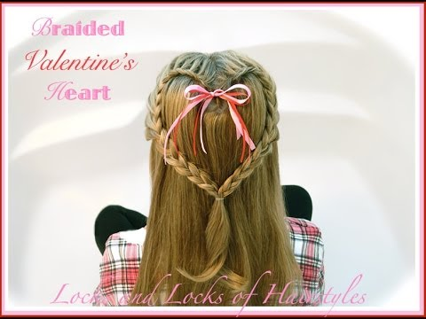 How to do lovely heart braid hair style step by step DIY tutorial instructions