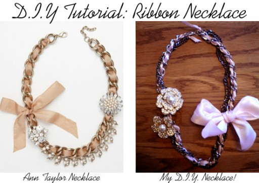 how to make beautiful DIY ribbon statement necklace step by step tutorial instructions