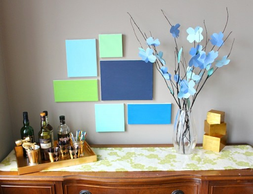 how to make simple DIY canvas wall art step by step tutorial instructions 1