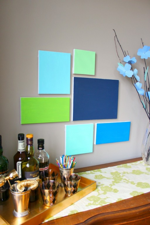 how to make simple DIY canvas wall art step by step tutorial instructions 2