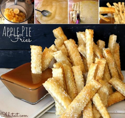Cooking class - How to make DIY apple pie fries step by step tutorial instructions and recipe