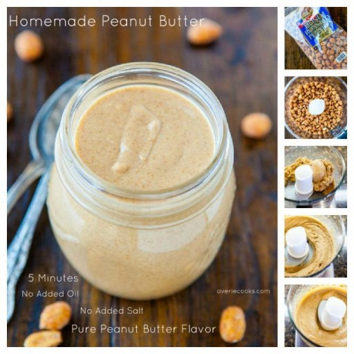 Cooking class - How to make DIY homemade peanut butter step by step tutorial instructions and recipe