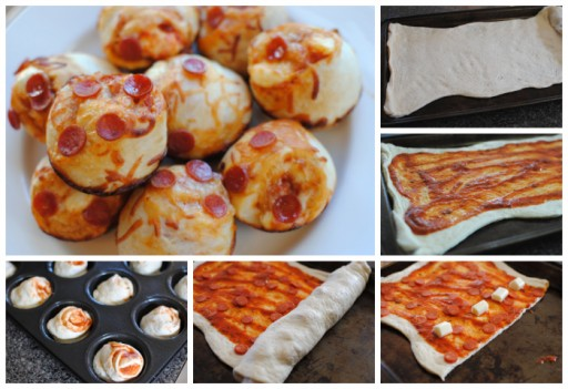 Culinary school - How to make DIY stuffed pizza cupcakes step by step tutorial instructions
