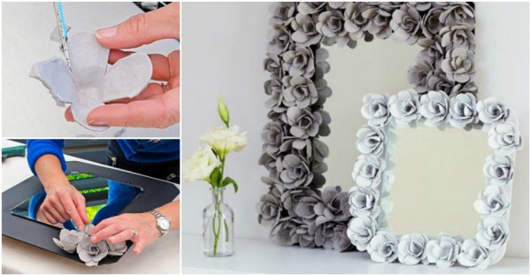 How To Make A Decorative Mirror With Egg Cartons