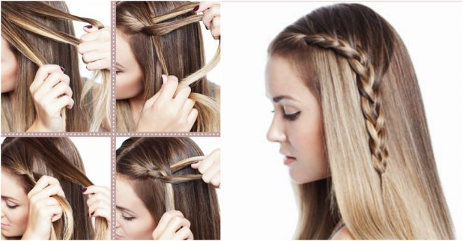 How To Make Beautiful One Sided Braid Hair Style Step By Step Diy