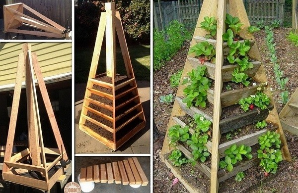 How to build a vertical pyramid tower garden planter