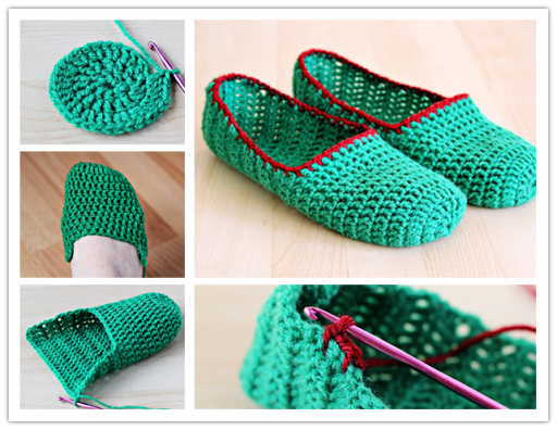 How to crochet simple slippers step by step DIY tutorial instructions